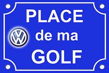 PLAQUE de RUE VOITURE AUTO VOLKSWAGEN POLO GOLF PERSONNALISABLE ALU 20x30 cm