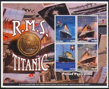 Madagascar 1998 Titanic/Ships/Boats/Shipwrecks/Transport/Postcards shtlt b2003t