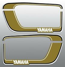 YAMAHA VINTAGE SADDLEBAG GOLD DECAL REPRODUCTIONS GRAPHICS XS 400 , 650 , ETC