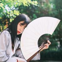 Hand Held Fan Blank Silk Cloth Folding Fan Party Wedding Decor Chinese Style