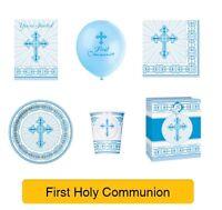 HOLY 1ST/FIRST COMMUNION Party Range BLUE/BOY - UNIQUE RADIANT CROSS