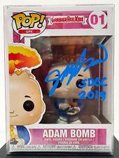 "JOHN POUND Signed Funko POP #1 ""GARBAGE PAIL KIDS"" Adam Bomb SDCC 2019"