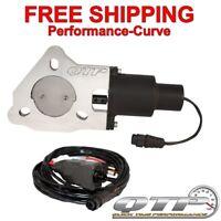 """QTP Quicktime Performance QTEC40 4/"""" Electric Exhaust Cutout 3-Bolt Flange"""