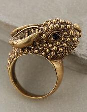 NIP Anthropologie ALKEMIE Art Deco Roaming Rabbit Ring 8 HANDMADE Unusual Artsy