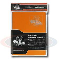 Monster Protector Album Binder 4 Pocket Matte Sunflower Orange With 20 Pages