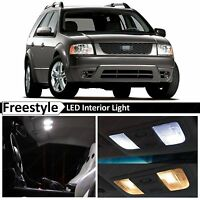 2005-2007 Ford Freestyle White Interior + License Plate LED Lights Package Kit