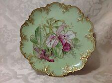 1890-1910 A Klingenberg Fr Handpaint Art Nouveau Lg Round Serve Platter; Great