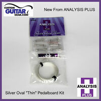 Analysis Plus Silver Oval Thin Solderless Patch Cable Kit