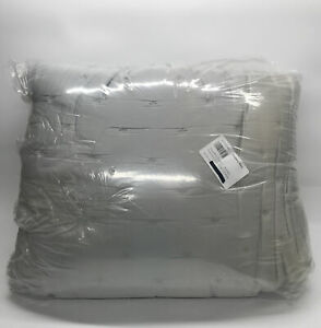 Pottery Barn Gray Mist Tencel Wrinkle-Resistant Quilt, King/Cal.king
