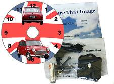 DIY CD Clock KIT. Austin Seven Mini. Wall or Desk Clock. Mini car on Union Flag