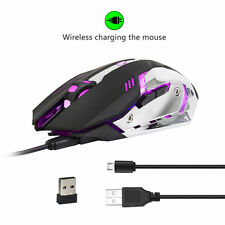 Rechargeable 2400DPI Wireless Gaming Mouse 2.4G Battery Gamer 6 Buttons Mice Pro