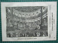 1834 WOODBLOCK PRINT ~ INSTALLATION OF THE CHANCELLOR AT OXFORD