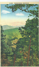 Thunderhead Mountain   NC  Unused Mint Linen Postcard 10154