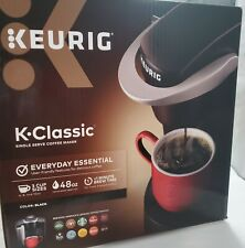 Keurig K-Classic Single Serve K-Cup Pod Coffee Maker, Black- NEW