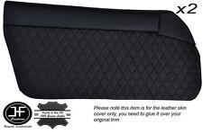 BLACK DIAMOND ST 2X DOOR CARD LEATHER COVERS FITS MAZDA MX5 MK1 MIATA JDM 89-97