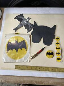Rare Stephen's Ink Batman Fountain Pen Mask Flier Stickers Badge Promo 1960's