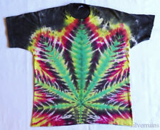 POT LEAF TIE DYE Vintage T Shirt 80's 90's Stoner HIPPY Rocker