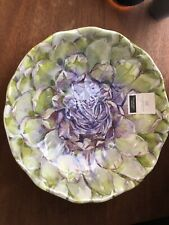 The Farmhouse By Rachel Ashwell Melamine Serving Bowl Floral Succulent -NWT 12""