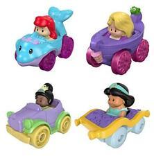 Disney Princess Wheelies Push Cars Set of 4 Ariel, Jasmine, Tiana & Rapunzel S3