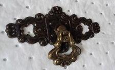 ANTIQUE 18 Set Victorian HEART CROWN DESIGN BRASS ORMOLU ORNATE HARDWARE
