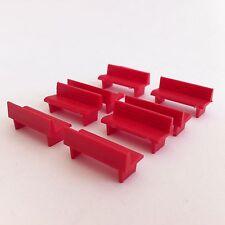 Prefo 70501 - Acht Bänke in rot, Sitzbank, Parkbank für Modelleisenbahn H0