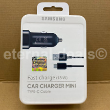 Genuine Samsung Fast USB Car Charger Type-C Cable For Galaxy S20 S10 S9 Note 10+