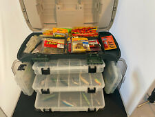 Loaded! Plano Outdoor Sports Angled Fishing Tackle Box loaded with new lures +