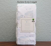 NEW Pottery Barn Kids WINTER POLAR BEAR Organic Flannel Crib Fitted Sheet BLUE