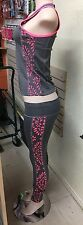 Kimberly C Workout Outfit Pink & Gray Small