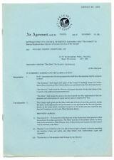 Skunk Anansie Colston Hall, Bristol Hiring Agreement 14/3/97