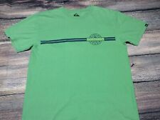 Quiksilver Long Sleeve T Shirt Size L Large Green Vintage Rare Tee Cycling Mtb