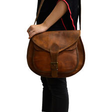 New Women's Genuine Handmade Leather Shoulder Travel Sling Side Cross Body Bag