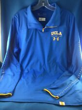 Preowned UNDER ARMOUR LOOSE HEAT GEAR UCLA BRUINS BLUE 1/4 ZIP JACKET - SIZE MED
