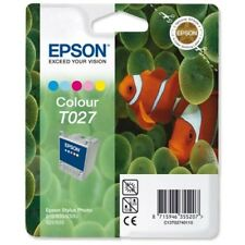 Genuine Epson T027 Fish 5 Colour Ink jet Print Cartridge, T02740 TO27