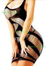 Fishnet Mini Dress Lingerie ONE SIZE thru 24W #  Black PLUS SIZE Big&Tall