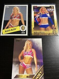WWE Alexa Bliss LOT Of 3 NXT Cards Rookie Cards S3-7