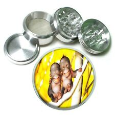 Baby Monkey Aluminum Grinder D5 63mm 4 Piece Adorable Ape Cute Laughing