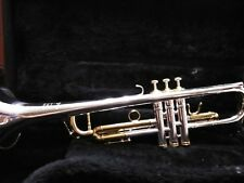 1980 BENGE 5X Bb TRUMPET - Gorgeous Silver with Gold Slides.. Caps & Buttons