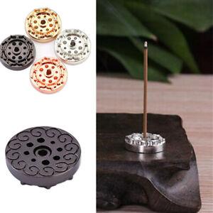 9 Holes Lotus Incense Burner Holder Flower Statue Censer Plate for Sticks Cone