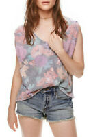 Free People Womens Gardenia OB560847 Top Relaxed Grey Size S