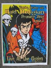 BAD RELIGION  DENVER 2000 ORIGINAL SILKSCREEN CONCERT POSTER KUHN