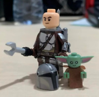 STAR WARS The Mandalorian and Child BABY YODA Lego Moc Minifigure