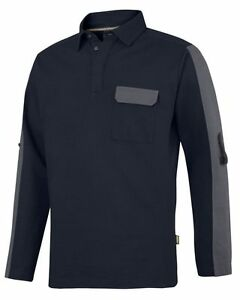 SNICKERS *NEW* ALLROUNDWORK RUGBY SWEATER 2607 BLACK NAVY GREY *FREE DELIVERY**