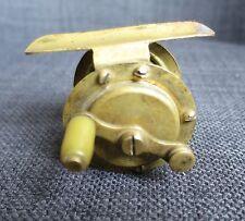 PECHE A LA LIGNE ancien petit moulinet en laiton