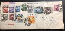 1949 Cartagena Colombia Colorful Registered Cover To Chaquicate Chile