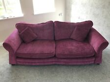 2 x DFS Three Seater Sofas in Fuschia Pink. (Free local delivery)