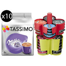 TASSIMO Kapseln Milka T Discs 10x8 Kakao Getränke Choco + 1 KOZIOL Kapselhalter