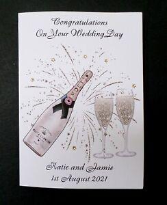 Handmade Personalised Congratulations Wedding Day Card