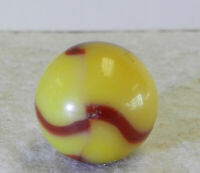 #12785m Vintage Peltier NLR Ruby Bee Marble .64 Inches