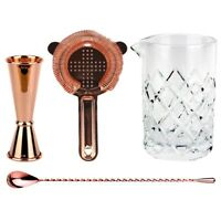 NEW Copper Old Fashioned Bar Kit - Set Cocktails Drinks Negroni Alcohol